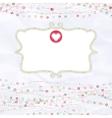 Valentine copyspace card vector image vector image