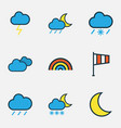 weather colored outlines set collection of lunar vector image vector image