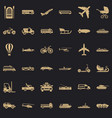 working transport icons set simple style vector image vector image