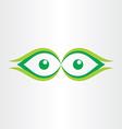 human eyes stylized icon vector image