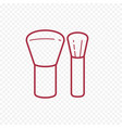 make up brush thin line icon vector image