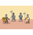 Medieval soldier flat graphic vector image