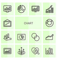 14 chart icons vector image vector image