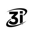 3 i modern logo designs simple vector image