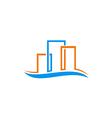 abstract building cityscape construction logo vector image