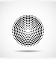 abstract dotted circles dots in circular form vector image vector image