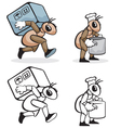 Ant profession cook and courier vector image vector image