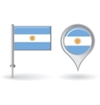 argentinean pin icon and map pointer flag