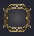 Art nouveau gold glitter frame art deco border