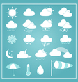Basic Weather Icons on Blue Background vector image vector image