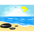 beach and the sky vector image vector image