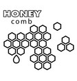 black and white honeycomb background image vector image vector image