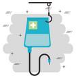 blood bag hanging medical icon vector image