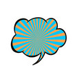 bright blank speech bubble colorful icon isolated vector image vector image