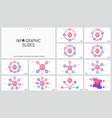 bundle of minimalist infographic design layouts vector image