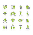 business success icons natura series vector image vector image