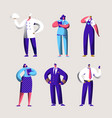 career worker set for labor day holiday banner vector image vector image