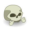 Cartoon comics style skull vector image