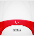 celebrating turkey independence day vector image vector image