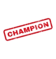 Champion Text Rubber Stamp vector image vector image