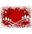 Christmas background with pines and snowflakes vector image vector image