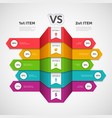 comparison infographic business chart with choice vector image vector image
