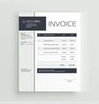 Creative invoice template design