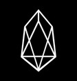 crypto coin eos icon on black vector image