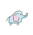 cute elephant doodle isolated vector image