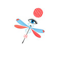 dragonfly graph and eye vector image vector image