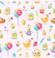 easter cartoon seamless pattern vector image vector image