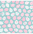 easter seamless pattern with flat icons of painted vector image vector image