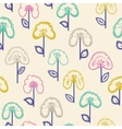 elegant seamless pattern with hand drawn flowers vector image vector image