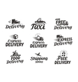 Express delivery service logo icon or vector image vector image