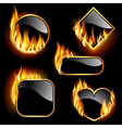 Flaming frames vector | Price: 5 Credits (USD $5)