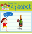 Flashcard letter W is for wine vector image vector image