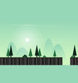 flat game background with landscape vector image vector image