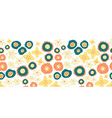 floral seamless repeat border teal orange vector image vector image