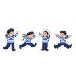 funny sailors or mariners kids set vector image vector image