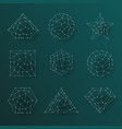 geometric abstract lines low polygonal background vector image vector image