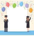 graduation students celebration vector image
