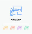 graph meeting presentation report seminar 5 color vector image