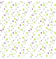 Green dot confetti seamless pattern vector image