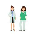 group of women doctors vector image