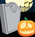 Halloween tombstone and jacko lantern vector | Price: 1 Credit (USD $1)