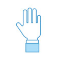 hand human stop icon vector image vector image