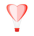 heart shaped air balloon vector image