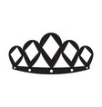 isolated crown silhouette vector image