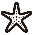 isolated seastar outline vector image vector image