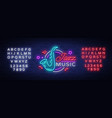 jazz music is a neon sign symbol neon-style logo vector image
